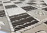 Ertex Weichschaummatte Badläufer Antirutsch Badvorleger Bodenbelag 65 cm Breit (Schiff Schwarz, 65 x 130 cm)