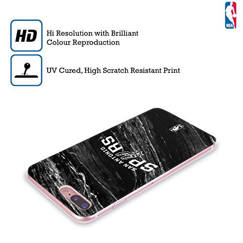Ufficiale NBA Marmo B&N San Antonio Spurs Cover Morbida In Gel Per Apple iPhone 7 / iPhone 8 Marmo B&N
