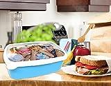 Brotdose mit Foto, Lunchbox mit eigenem Foto gestalten, Brotbüchse mit Bild bedrucken Hellblau