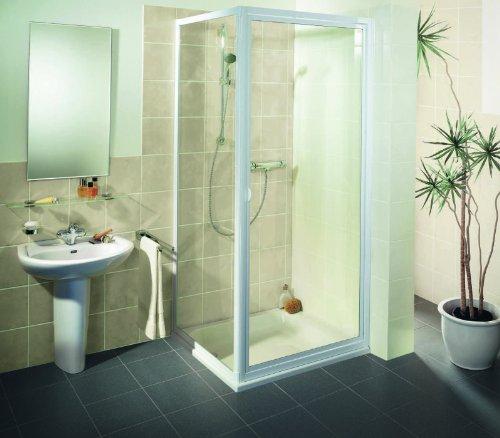 Breuer Fara Drehtür mit Seitenwand Echtglas Duschabtrennung Quickline 900/900 Duschkabine Dusche Eckeinstieg Ecke Bad