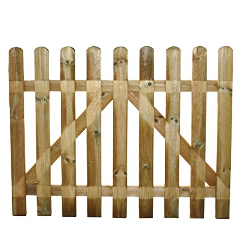 STI Cancello per recinto steccato in Legno impregnato 80x100 cm Europa