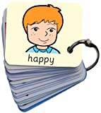 BSL for Kids Feelings & Emotions 101 George Picture Exchange Communication Keyring (Autism / AAC / ASD) Visual Aid Resource