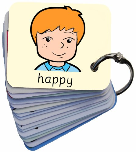 Feelings & Emotions 101 George Picture Exchange Communication Keyring (Autism / AAC / ASD) Visual Aid Resource