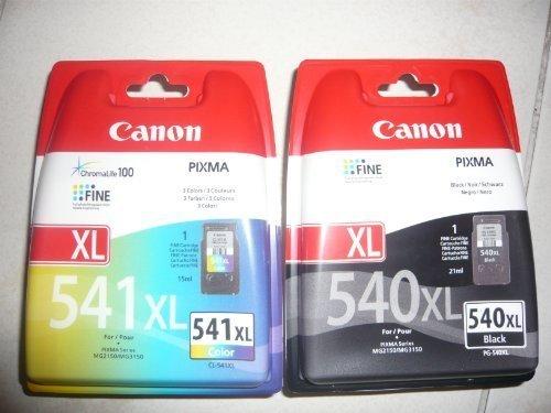 2 Original XL Drucker Patronen für Canon Pixma MX525 525 MX395 395 MX455 455 (XL Black/XL Color)...