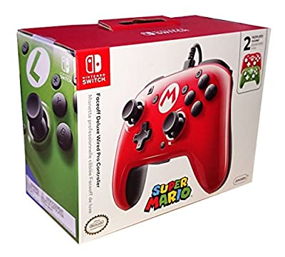 Faceoff Deluxe Wired Pro Controller - Super Mario Edition (Nintendo Switch) by PDP