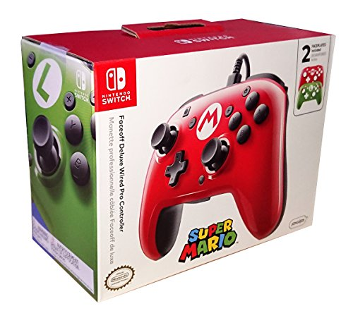 Faceoff Deluxe Wired Pro Controller – Super Mario Edition [Nintendo Switch ]