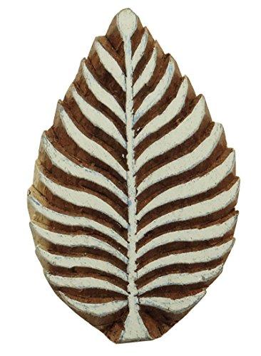 Hölzerne Briefmarken Dekorative Textil-Druckblöcke Blatt-Muster Hand geschnitzt - Hand Geschnitzten Blättern