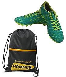 SEGA ELEGANT FOOTBALL STUD SHOES WITH SHOES BAG. (8, GREEN)