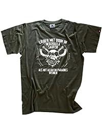 Viking Shirts - Lieber mit Odin in Walhalla saufen als mit Allah im Paradies weinen T-Shirt