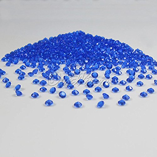 OurWarm Baby Diamant Konfetti Banquet Decor Favor, Hot Sale New Versorgung, Acryl Kristall Bead Sparkly, Vase Perlen Scatter, Hochzeit Party Decor, Royal Blue/Deep Blue, 1 Carat (6.5mm) (Vase Royal Blue)