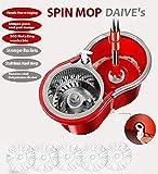 DAIVE's Easy Magic Floor Mop 360° Steel Bucket Mop with 5 Micro Fiber