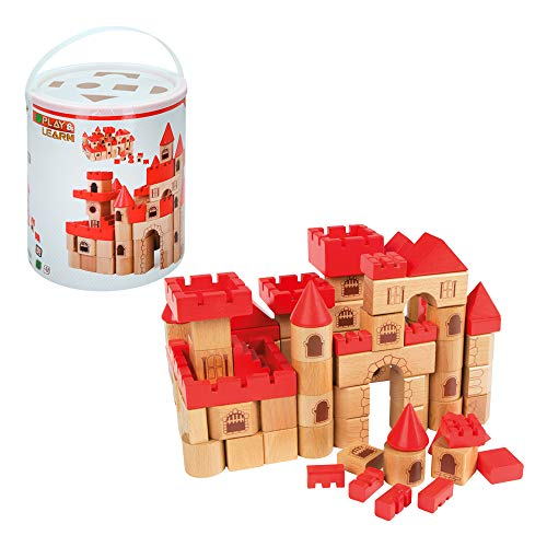 ColorBaby Play&Learn Castillo medieval, 100 piezas de madera Multicolor (46210)