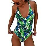 GNYD-Traje De BañO Mujer Una Pieza Bikinis Push Up BañAdor De Una Sola Pieza con ImpresióN Digital Y Multirretro Delgado