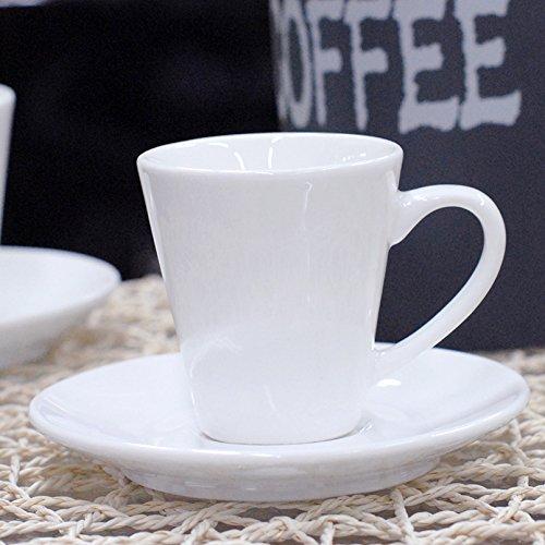 AJUNR-Einfach Und ExquisitHome Tasse Espresso Doppelter Espresso Tasse Weiße Tasse Keramik Tasse Tee