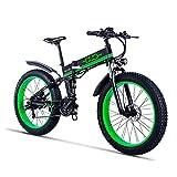 Gunai Fettreifen Fahrrad, 26 Zoll Elektro Fahrrad 1000 Watt 48 V Schnee e-Bike Shimano 21 Geschwindigkeiten Llithium Batterie Hydraulische Scheibenbremsen Mountain E-Bike für Erwachsene