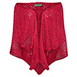 Country Line Damen Trachten-Mode Poncho Lotte in Rot traditionell, Farbe:Rot, Größe:S - XL