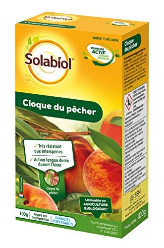 SOLABIOL SOCLOQ100, Jusqu'à 60L de Solution | Traitement Contre la Cloque du Pêcher, 100 GR