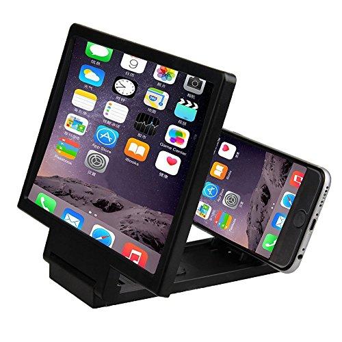 3D Mobile Pantalla del Telefono Lupa - SODIAL(R)3D Mobile Pantalla del Telefono Lupa Amplificador de Video HD para Telefonos Inteligentes Negro