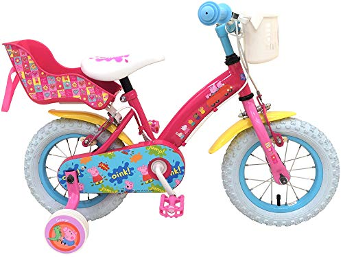 .Peppa Pig Bicicleta Infantil Niña Chica 12 Pulgadas Frenos al Manillar Rose 85% Montada