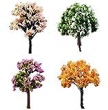 Lumanuby – 3Miniatur-Baum-Modelle, Pflanzen/Baum-Modell, Modell-Szenerie, Architektur, Bäume, Zubehör, Puppenhaus, Feengarten, Deko-Ornament (zufällige Farbe)