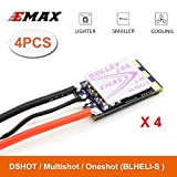 4pcs Emax BLHELI_S ESC,Bullet Series Electronic Speed Controller for FPV Racing Drone
