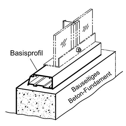 Basisprofilrahmen für Beckmann-Gewächshaus Modell U