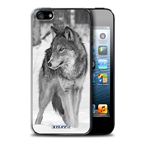 Stuff4® Hülle/Hülle für Apple iPhone 5/5S / Wolf Muster/Zoo-Tiere Kollektion Iphone Mobile-skin