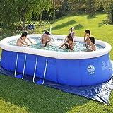 ZHKGANG Runder Swimmingpool Nach Hause Erwachsene Kinder Dicke Große Ovale Planschbecken Wasserpark...