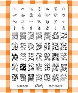 Cheeky Plaque Jumbo Nail Art 6 de 42 Designs