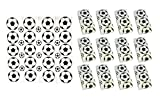 24 x 10er PackTaschentücher Fußball schwarz weiß Fanset Fanartikel Deutschland