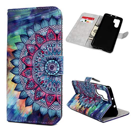 Hülle für Huawei P30 Pro Handyhülle Flip Case 3D PU Leder Brieftasche Case Cover Magnet Schutzhülle Schale Etui Tasche Skin Ständer Handytasche für Huawei P30 Pro Totemblume