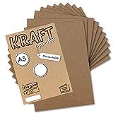 75x Vintage Kraftpapier DIN A5 410 g/m² Natur-braunes Recycling-Papier Bastel-Karton Künstler-Karton Künstler-Pappe I Umwelt by Gustav NEUSER®