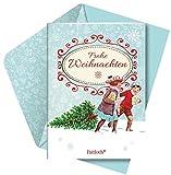 Frohe Weihnachten: Weihnachtsbroschur mit Kuvert