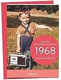 1968 - Ein ganz besonderer Jahrgang Zum 50. Geburtstag: Jahrgangs-Heftchen mit Kuvert