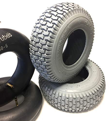 c090ccbb979 Impac Wheelchair Tyres Pack of 2 13 x 5.00-6 Grey + 2 Tubes,