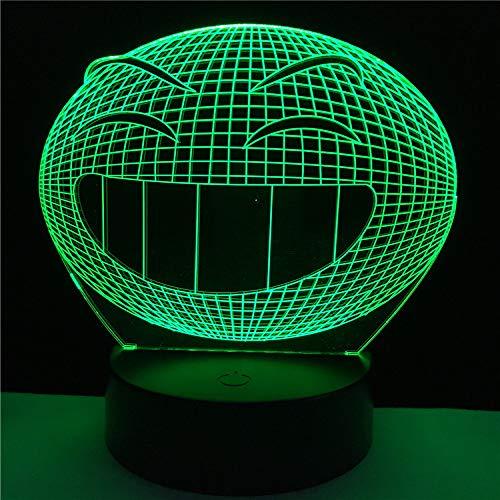 wangZJ 3d Illusion Lamp / 3d Led Lighting/usb Lámpara de escritorio/Dormitorio creativo Bar/Regalo de Navidad para niños/Emoji Smile