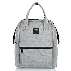 Hotrose Nappy Backpack Multifunctional Mommy Bag Nappy Changing Rucksack For Travelling & Daily Use (Grey)