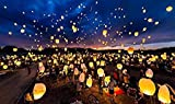 #7: Kids Mandi™ Home Essentials Sky Lantern Decorative party Supply (Set of 10 Pcs) with Candle