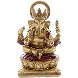Puckator GAN06 - Estatua de Ganesha (14 cm) color rojo