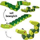 alles-meine.de GmbH 3 Stück _ Biegefiguren -  lustiges Krokodil  - aus Holz - Holzwurm / Biegesc..