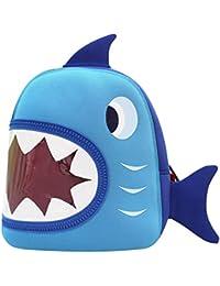 NOHOO Mignon Requin Maternelle Enfant Sac à Dos Cartable pour Voyage Bleu