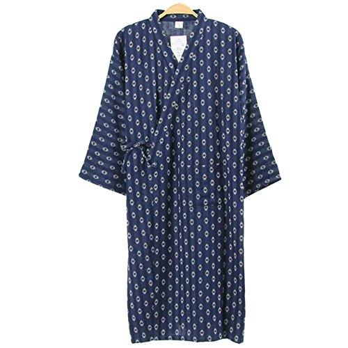 Fancy Pumpkin Robe Kimono-Robe-Reine Baumwollbademantel-Pyjamas # 05 der Männer japanische Art - Grüne Herren-robe