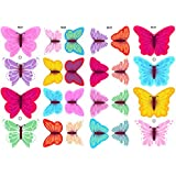 Essbare Schmetterlinge: 24 gemischte Farben & Designs/ Edible Wafer Butterflies: 24 Fabulous Mixed Design Edible Butterflies