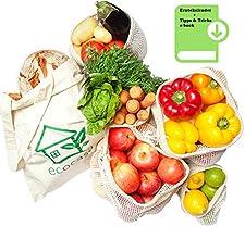 Wiederverwendbare Obst- und Gemüsebeutel - für eine plastikfreie Welt        Ökologische Bedeutung - Unser Planet versinkt im Plastikmüll: Weltweit werden jährlich mehr als 300 Millionen Tonnen Plastik produziert. Der Großteil davon endet als Müll...