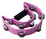 ZZY Moon EZ Grip Tambourine 20 Jingles Hand Held Percussion Music Shaker Drum (Color