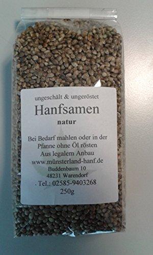 Hanfsamen Natur 250g bei uns auch Tee u.a. erhältlich -