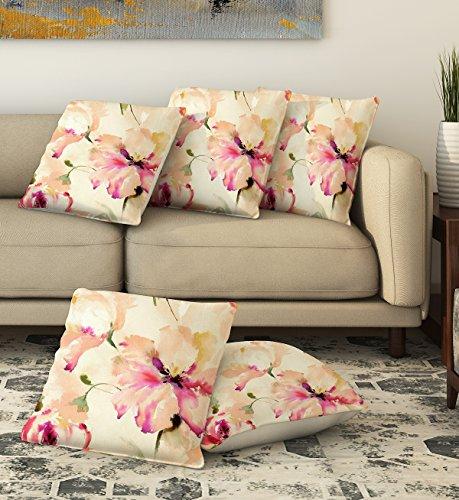 La Verve Cotton Print Cushion Cover 16X16