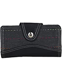 Litercay India Indha Black Colour Womens Ethnic Clutch Purse/Clutch And Wallet