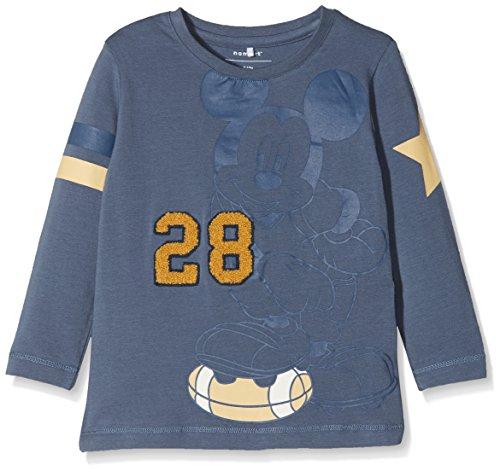 NAME IT Baby-Jungen Langarmshirt Nitmickey Romeo LS Top M Mini Wdi, Blau (Vintage Indigo), 104 (Freche Vintage-t-shirt)