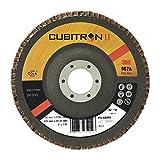 3M Cubitron II Fächerschleifscheibe 967A flach - 125 mm Fächerscheibe 60+ mit Präzisions-Keramikkorn für kritischere Oberflächen - 10 Stück
